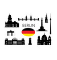 berlin famous tourist places capital of vector image vector image