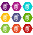 boiler icons set 9 vector image vector image