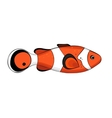 Bright red colored fish vector image vector image