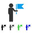 Child commander flat icon