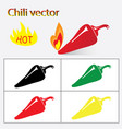 chilis vector image vector image