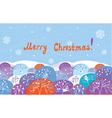 Christmas card with trees vector image vector image