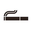 cigarette sign vector image vector image