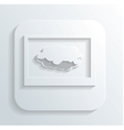 cloud in the monitor icon vector image vector image
