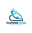 cloud phone technology logo vector image