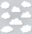 Clouds with shadows vector image vector image