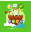 Competitor Analysis Concept vector image