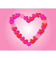 contour heart of hearts vector image vector image