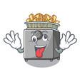 crazy deep fryer machine isolated on mascot vector image vector image