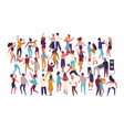 crowd of tiny people dancing on dance floor at vector image