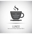 Cup of espresso lungo simple icon vector image vector image