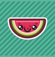cute kawaii smiling watermelon cartoon icon vector image