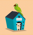cute mascots pet shop icons vector image