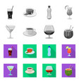 design of drink and bar logo collection of vector image vector image