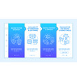 digital inclusion components onboarding template vector image vector image