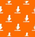 download pattern orange vector image