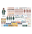fat african american man constructor set or diy vector image