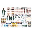 fat african american man constructor set or diy vector image vector image