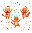 festive funny cat collection vector image vector image