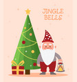festive greeting postcard template with christmas vector image