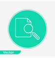 file search icon sign symbol vector image