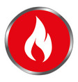 fire flame signal icon vector image vector image