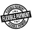 flexible payment round grunge black stamp vector image vector image