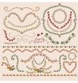 Floral Laurels Ribbons Wreaths vector image vector image