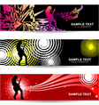 Guitarist abstract banner for web designrist