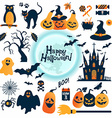 Halloween icons set Design elements vector image vector image