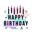 happy birthday greeting card with geometric and vector image