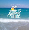 happy summer holiday background vector image