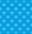 head of panda pattern seamless blue vector image vector image