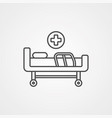 hospital bed icon sign symbol vector image vector image