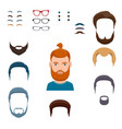 male face creation set vector image vector image