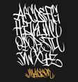 marker graffiti font handwritten typography vector image vector image