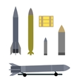 Military Ammunition Types Isolated on White vector image