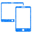 mobile devices grunge icon vector image
