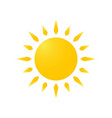 modern weather icon of sun flat symbol on white vector image vector image