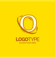 o logo template yellow background circle brand vector image vector image
