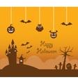 Orange halloween background vector image