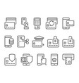 pay on line and mobile banking line icons vector image