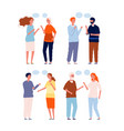 people conversation dialogue persons different vector image