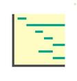 planning or schedule icon design 48x48 pixel vector image vector image