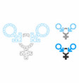 polyandry mesh network model and triangle vector image vector image