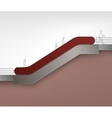 Red Escalator with Place for Advertising Side view vector image vector image