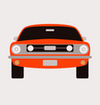 red vintage car flat style front vector image vector image