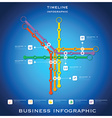 Route Timeline Business Infographic Background vector image vector image