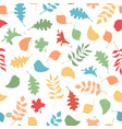 seamless pattern of autumn leaves on white vector image vector image