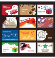 set business cards on different topics vector image vector image